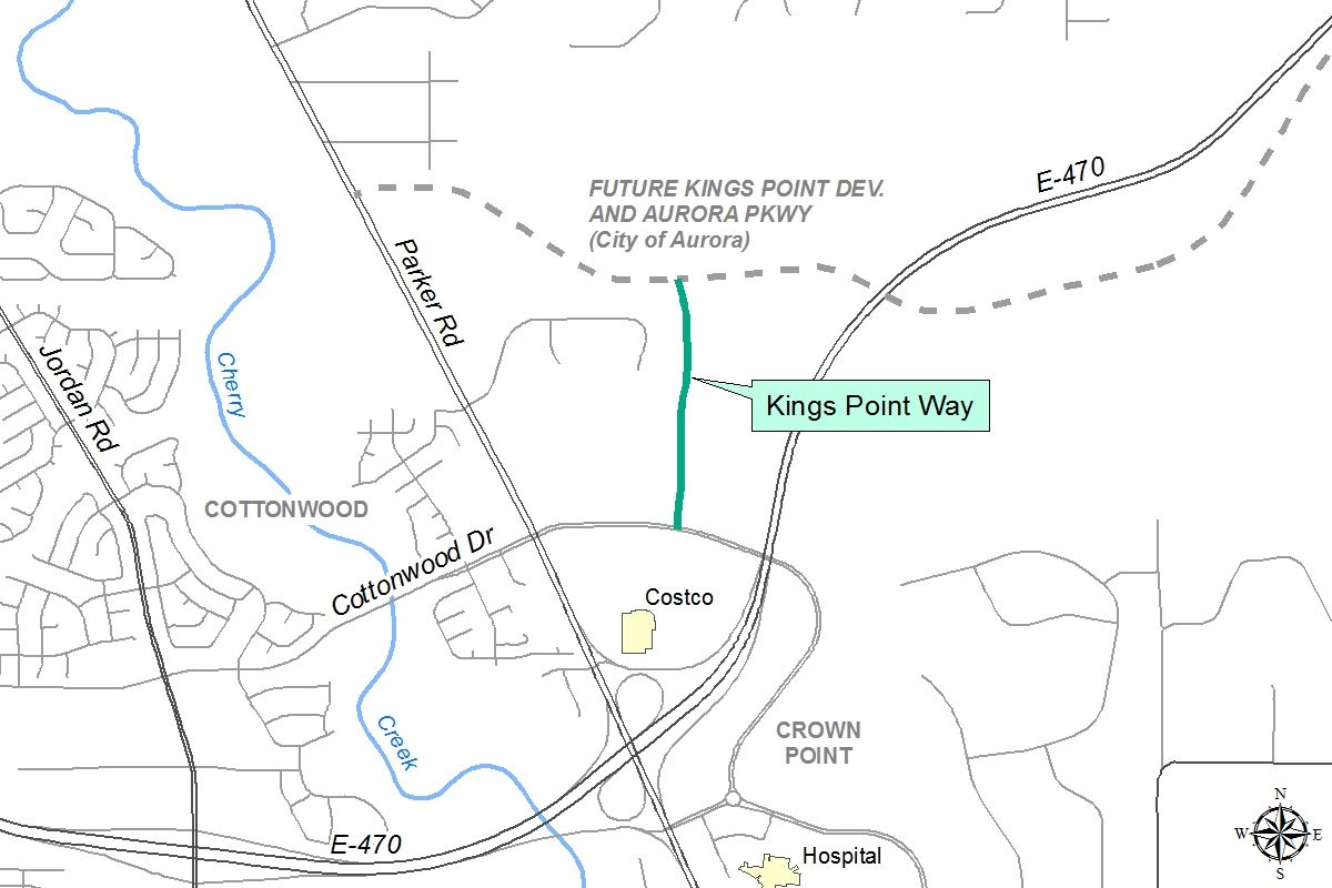 Kings Point Way Roadway Map
